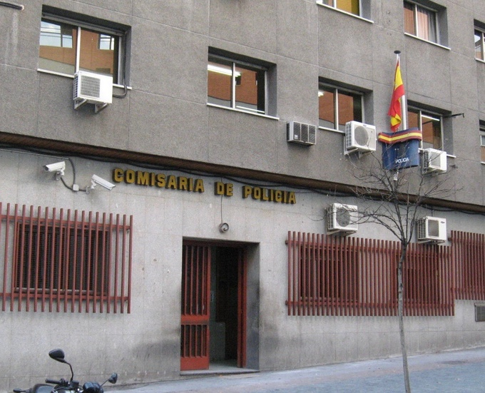 Madrid police station, not in West Africa
